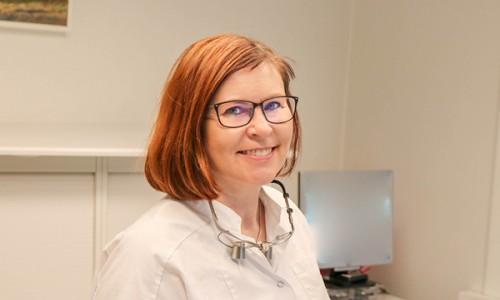 Teamet omkring tandlæge Connie Blauenfeldt