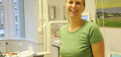 Teamet omkring tandlæge Camilla