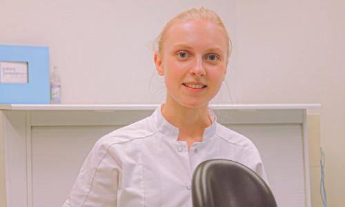 Teamet omkring tandlæge Mathilde Thybring
